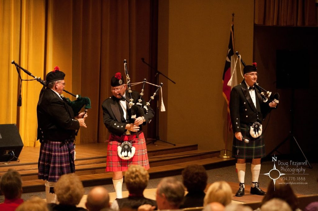 Bagpipers at play